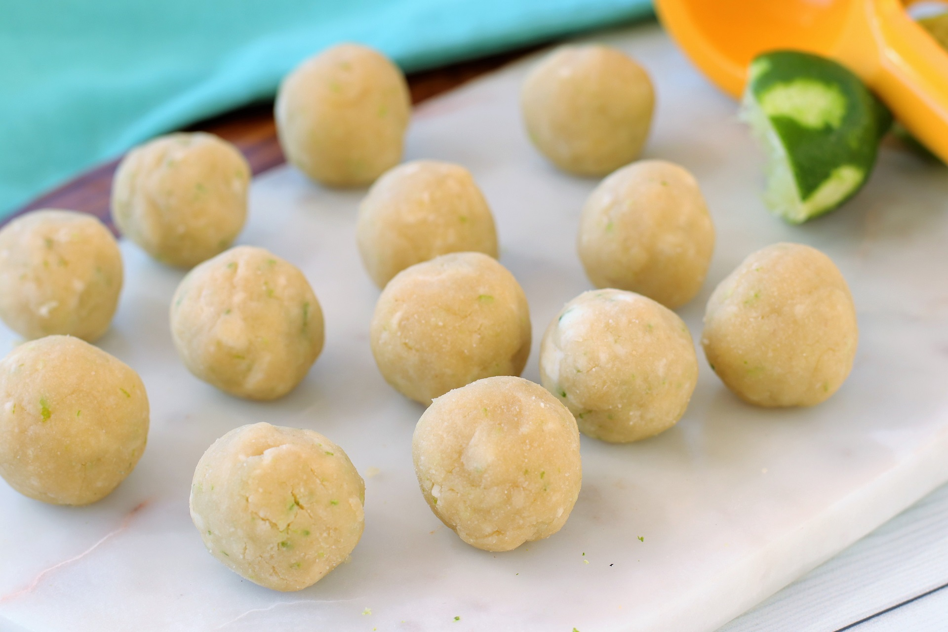 lime cookie bites