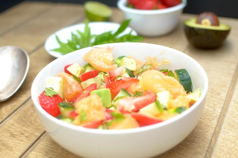 fruity mint summer salad