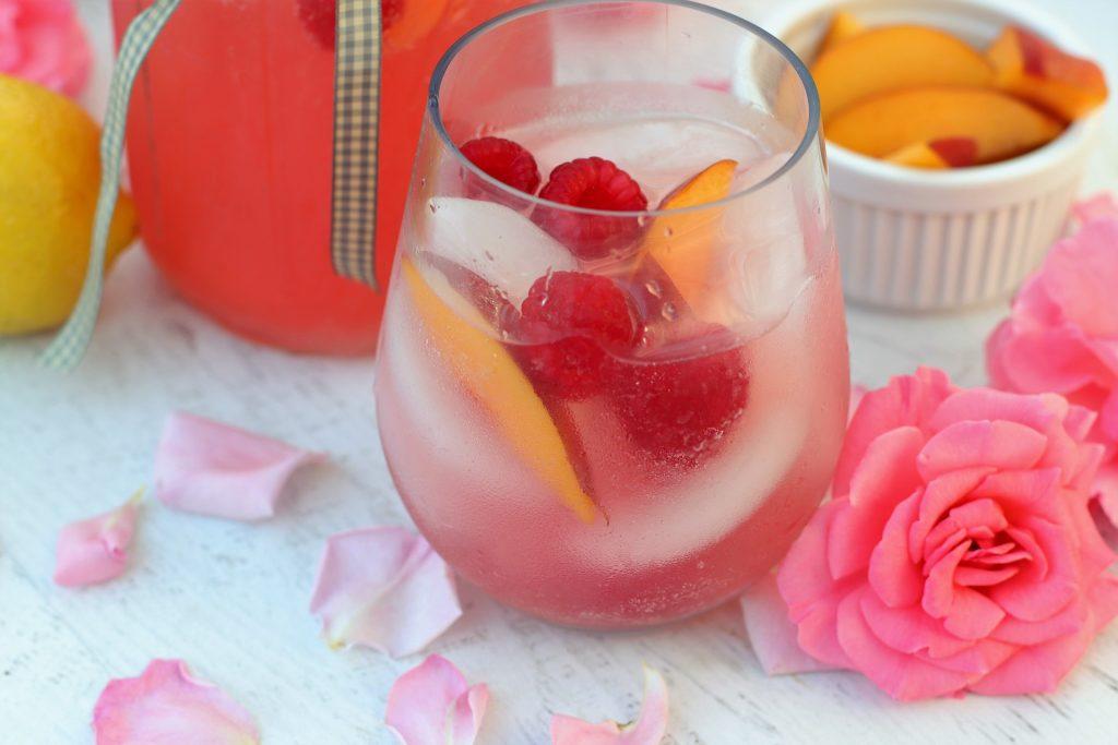 peach raspberry mocktail