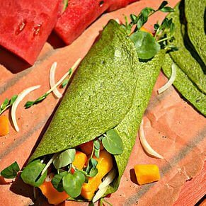 grain-free spinach wraps