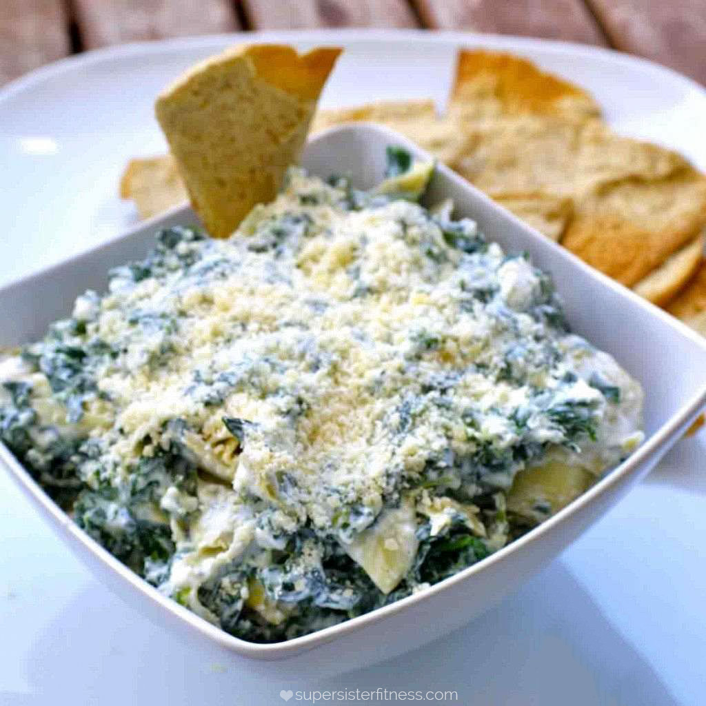 low cal spinach dip